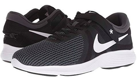 Nike Revolution 4 FlyEase (Black/White/Anthracite/Total Crimson
