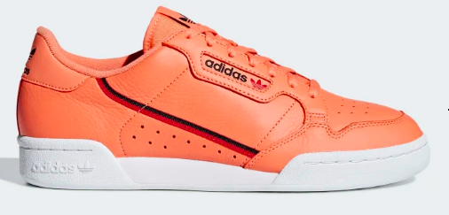 Adidas Continental 80 (Easy Orange/Core Black/Scarlet)