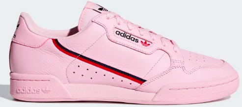Adidas Continental 80 (Clear Pink/Scarlet/Collegiate 80)