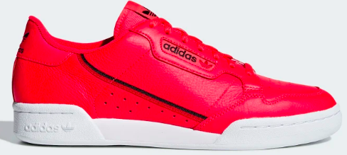 Adidas Continental 80 (Shock Red/ Core Black/Scarlet)