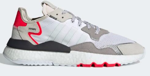 Adidas Nite Jogger(CLOUD WHITE / CRYSTAL WHITE / SHOCK RED)