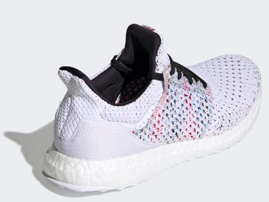 Adidas x Ultra Boost Missoni Clima (White/Cyan-Red) Isometric View