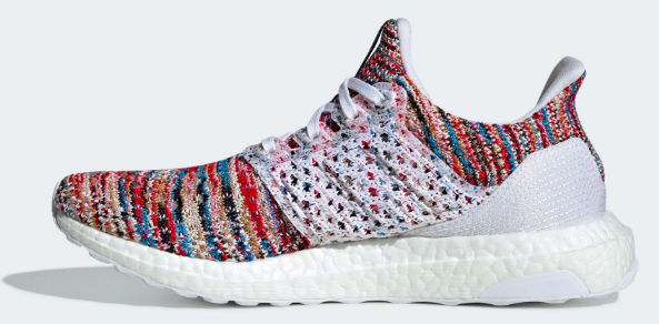 Adidas x Ultra Boost Missoni (White/Cyan-Red) Right Side View