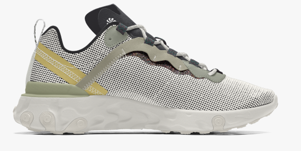 Have fun customising your Nike React Element 55.