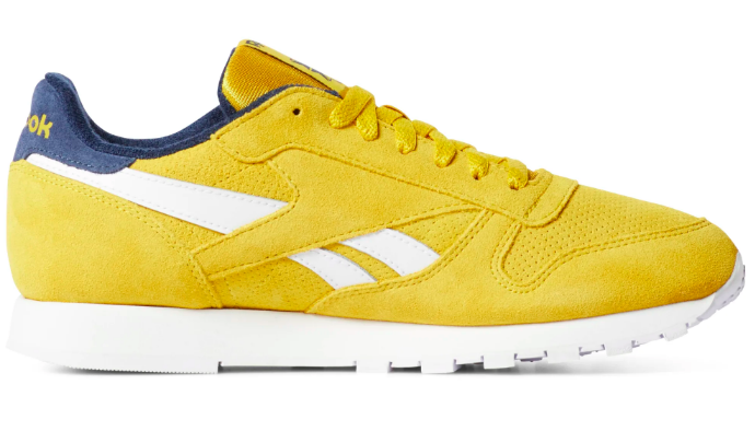 "Reebok Classic Leather ""Urban Yello/Collegiate Navy"""