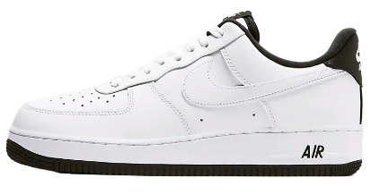 The image above shows the lateral view of the Nike Air Force 1 '07 White/White/Black
