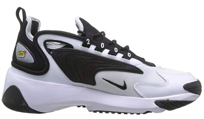 Showing the Medial view of Nike Zoom 2k Black/White
