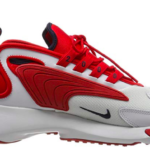 Showing the Medial view of Nike Zoom 2k Off White University Red