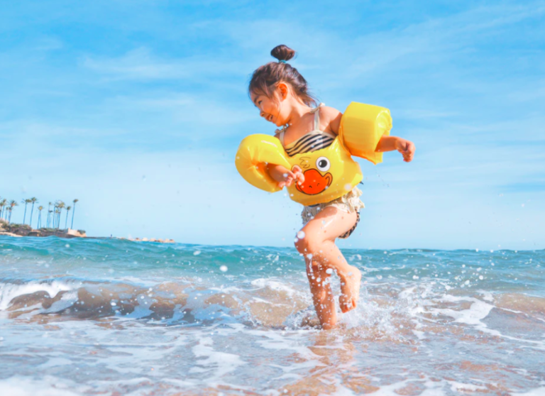 Gir Playing in the Beach During Summer