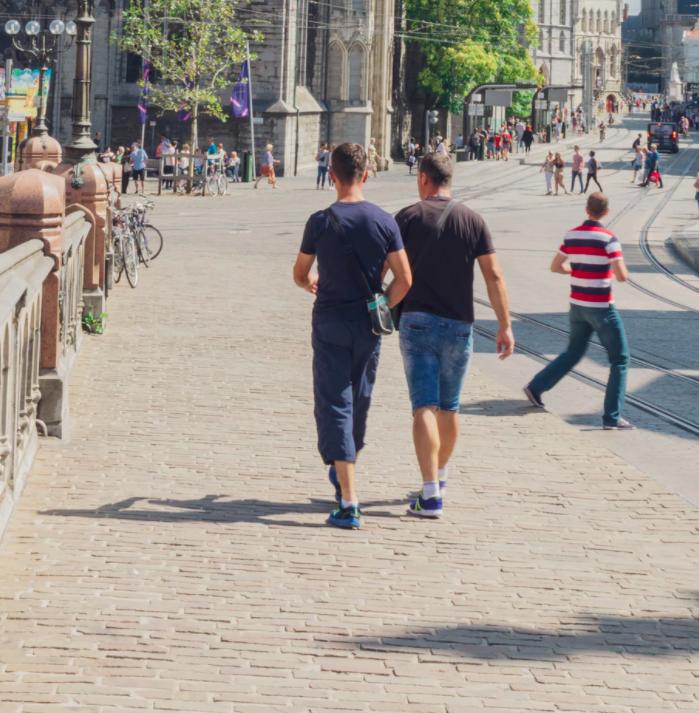 People Walking on the Street in Summer