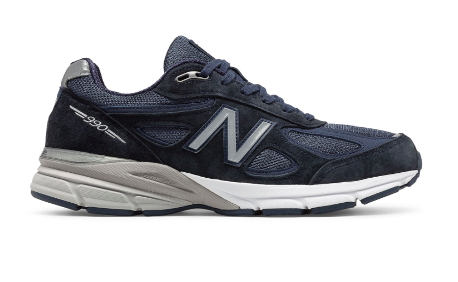 New Balance Made in US 990v4 Navy with Silver