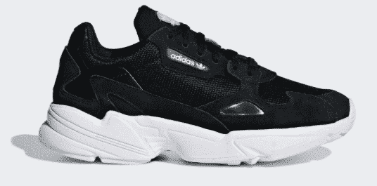 adidas falcon black black cloud white